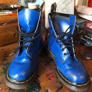 Royal blue RARE vintage dr martens size 6